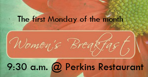 The first Monday of the month at 9:30am at Perkins Restaurant