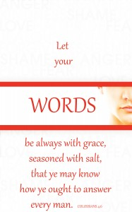 WORDS SEASONED WITH GRACE