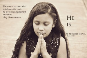 Praying Child Christian Stock Photo