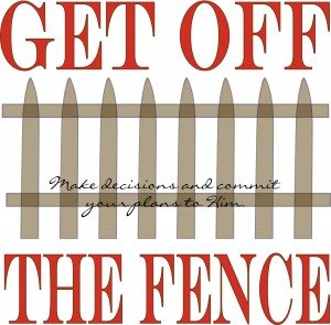 get off the fence