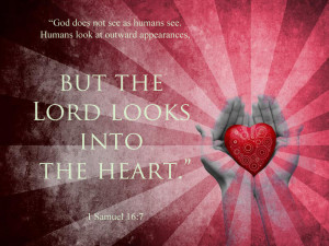 god looks on heart